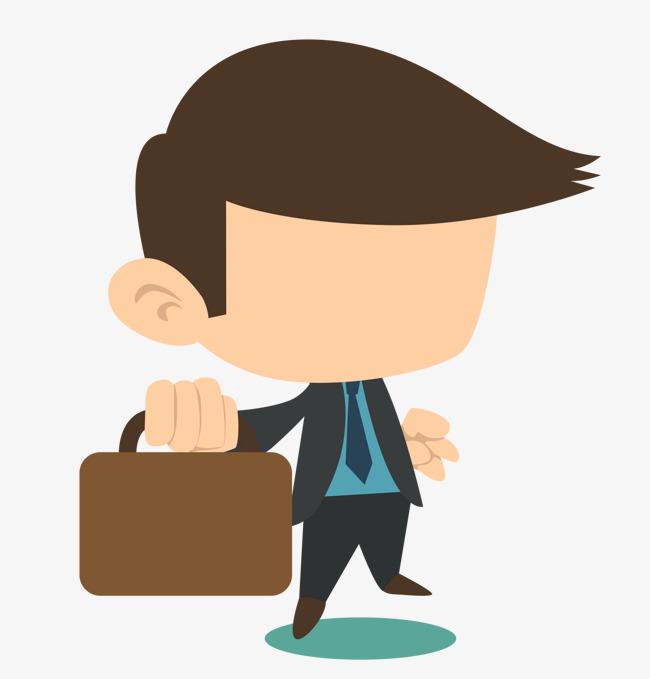 Briefcase clipart cute. Cartoon business man men