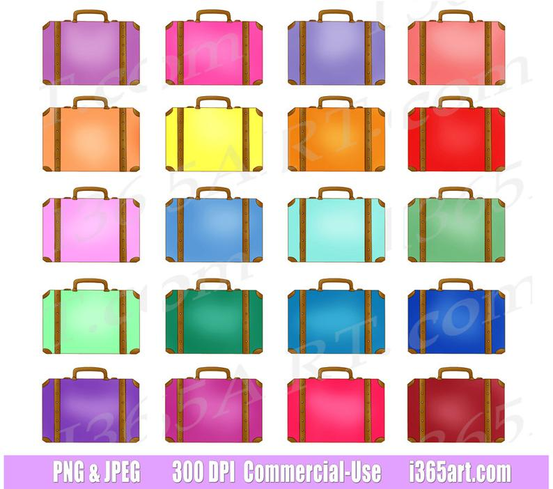 off suitcases travel. Briefcase clipart cute