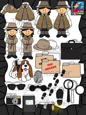 Bundle from tongassteacher on. Briefcase clipart detective