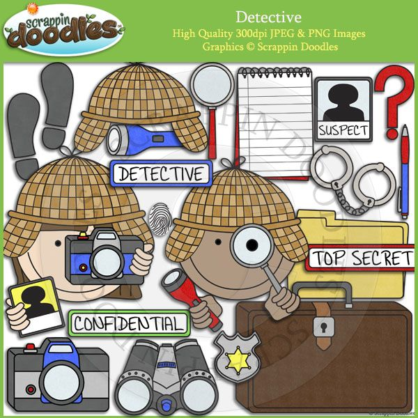 Clip art daycare ideas. Briefcase clipart detective
