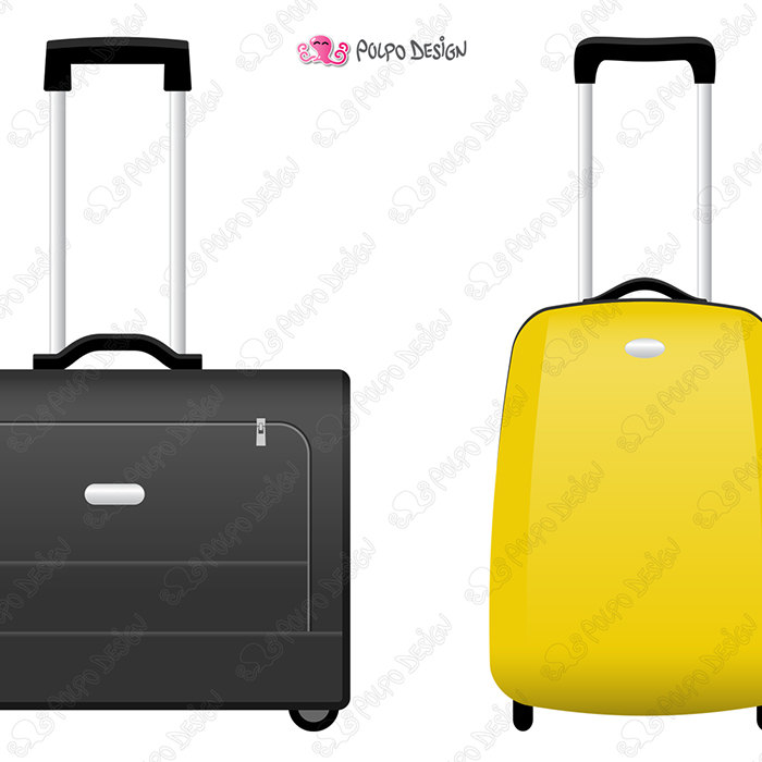 Rolling suitcase digital this. Briefcase clipart hand luggage