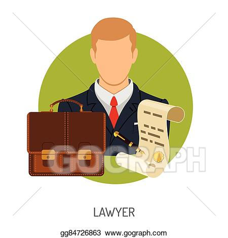 Vector icon with illustration. Briefcase clipart lawyer briefcase
