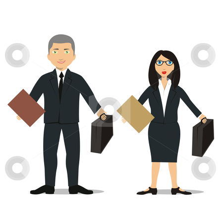 Briefcase clipart lawyer briefcase. Fully editable business people