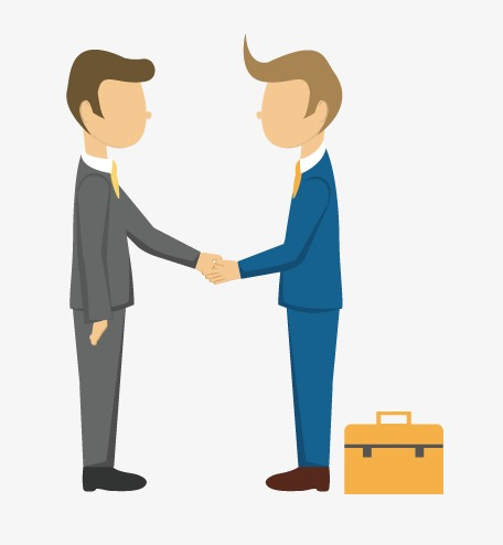 Briefcase clipart man. Cooperation happy workplace career