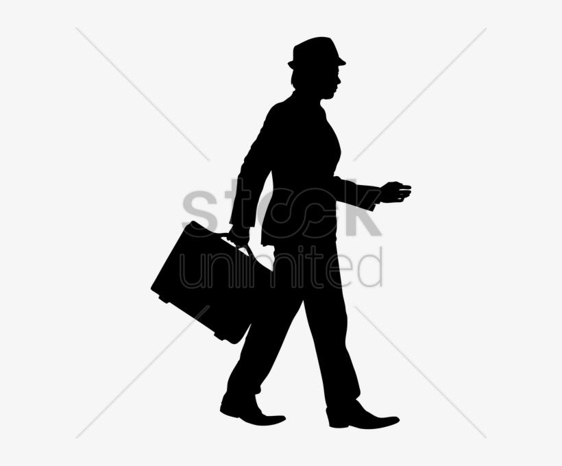 Businessman with silhouette . Briefcase clipart man
