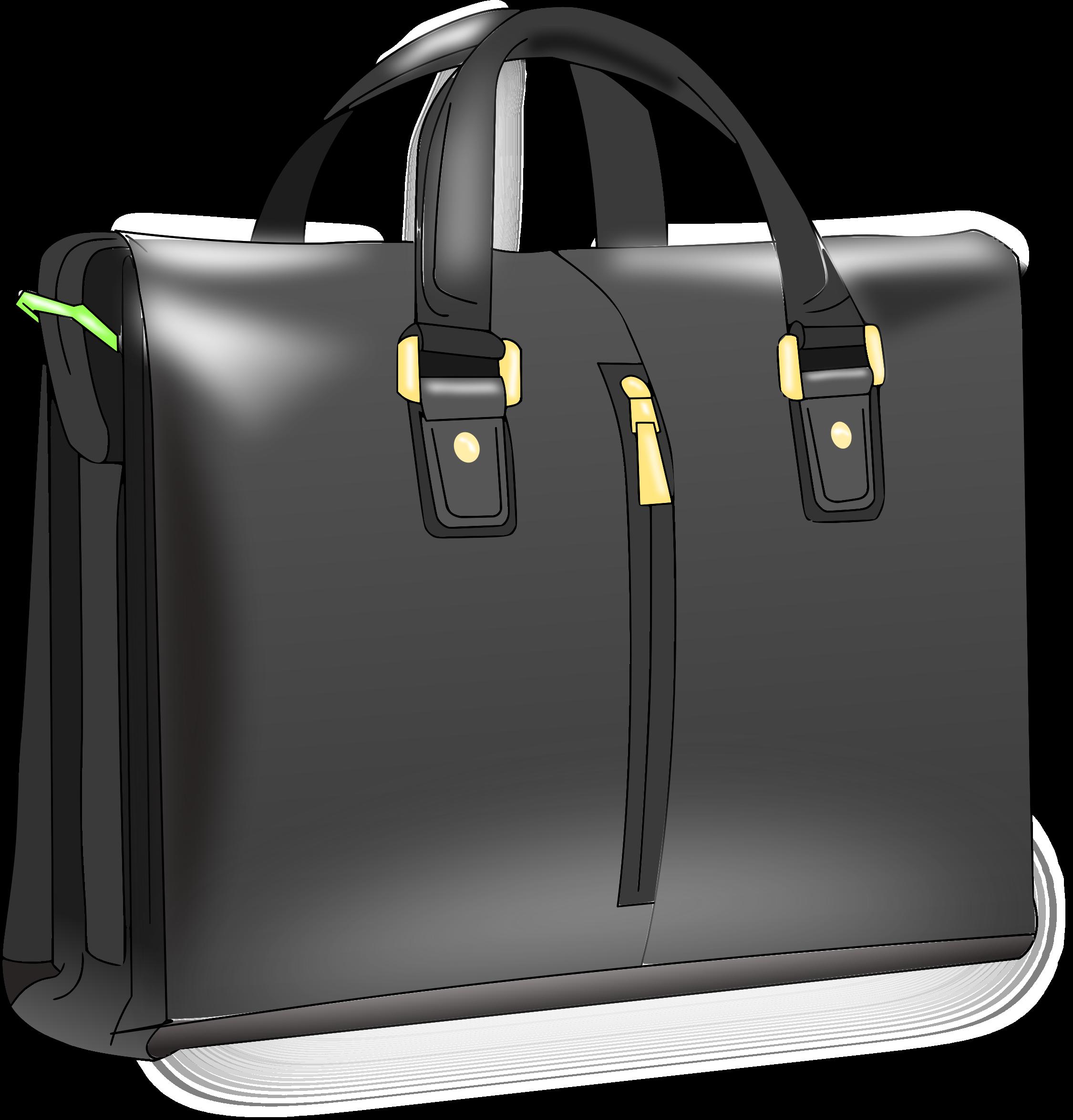 Man handbag big image. Luggage clipart briefcase