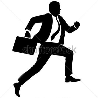 Briefcase clipart man. Business silhouette at getdrawings