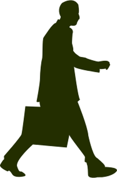 Walking with . Briefcase clipart man
