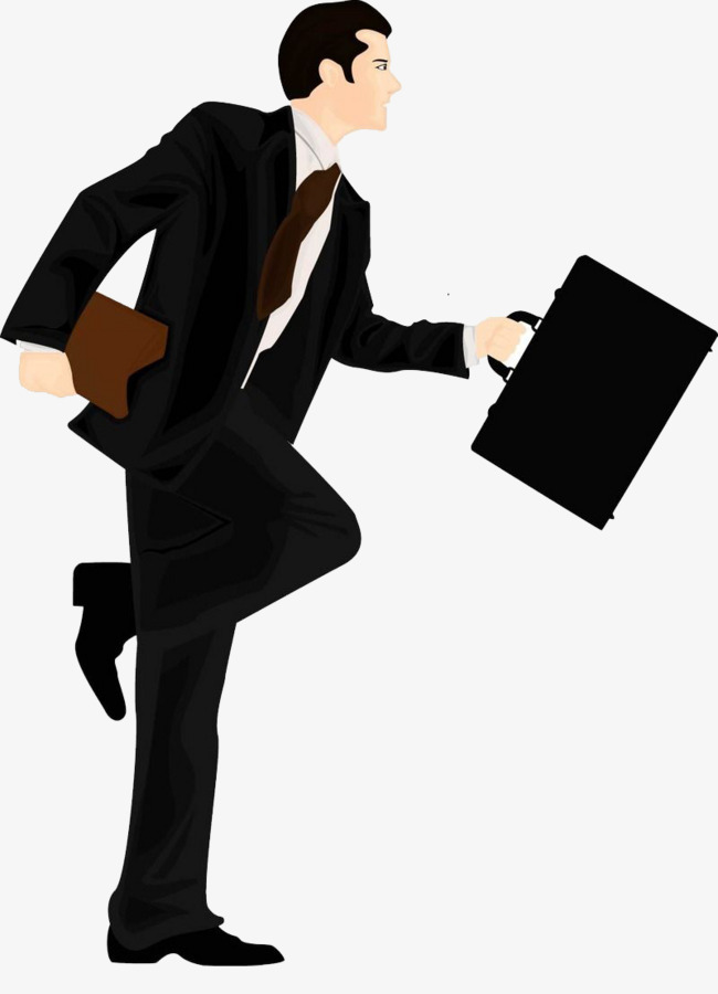 Carry cartoon the illustration. Briefcase clipart man