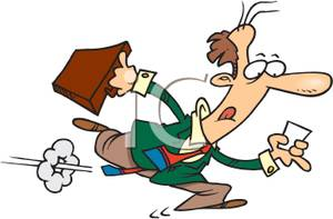 A colorful cartoon of. Briefcase clipart man
