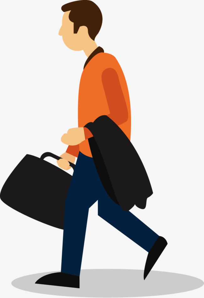 Briefcase clipart man. The with cartoon png