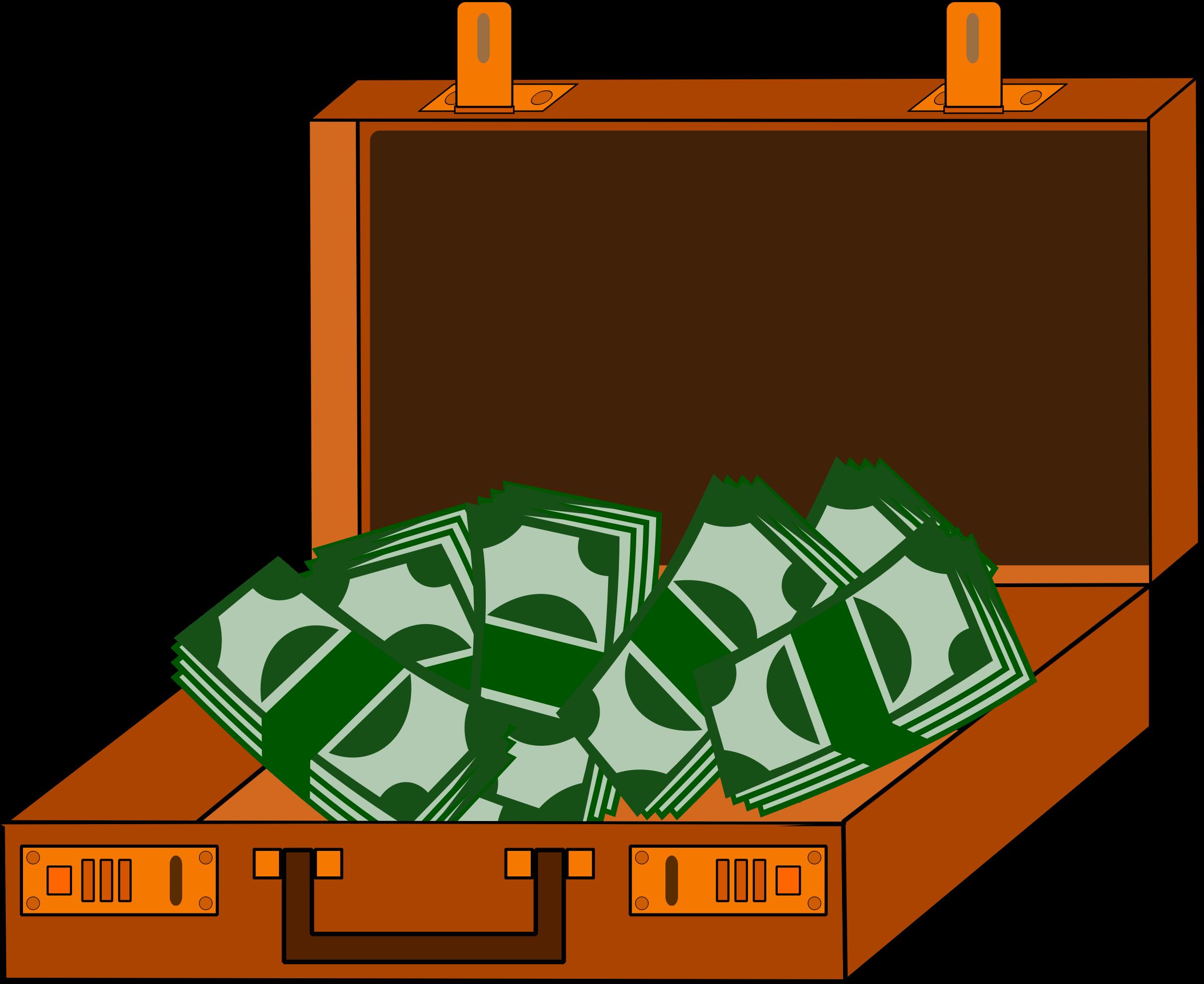 Cash big image png. Briefcase clipart money