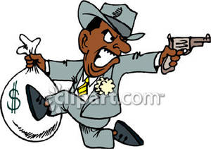 Briefcase clipart money. A man running with
