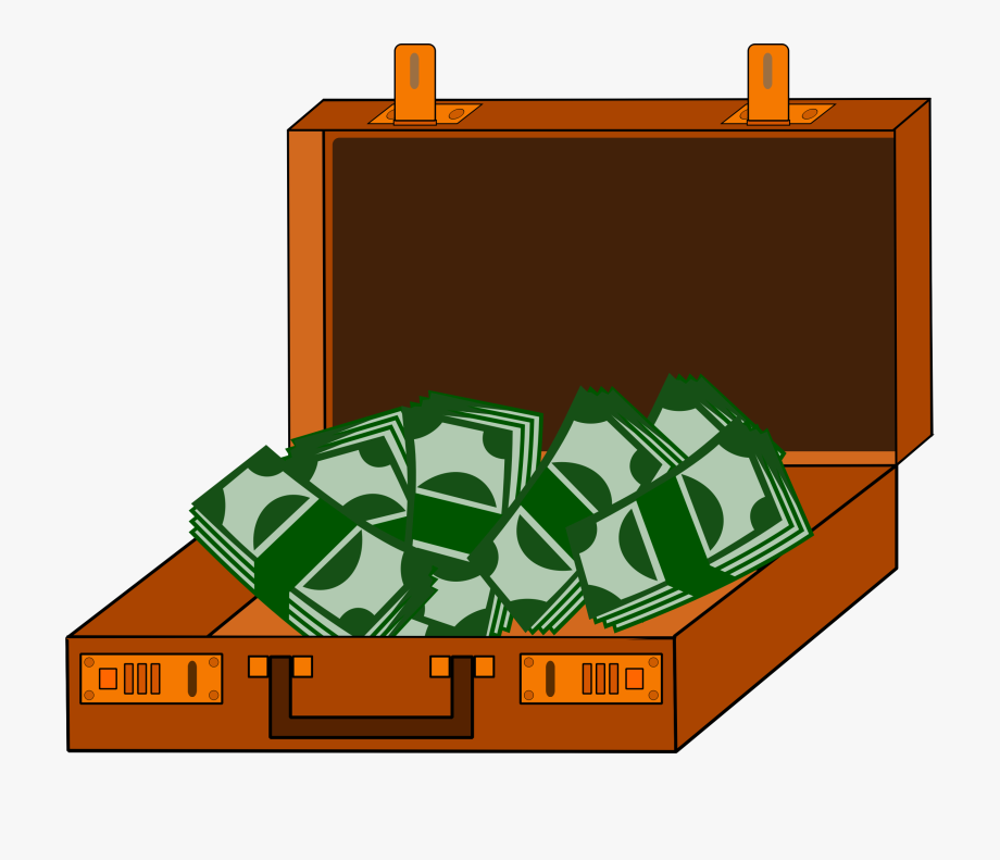 Cash png free download. Briefcase clipart money