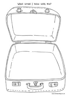 Suitcase pattern use the. Briefcase clipart opens flat