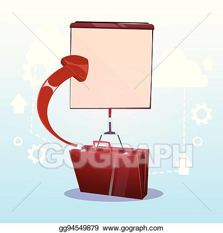 Eps illustration open with. Briefcase clipart opens flat