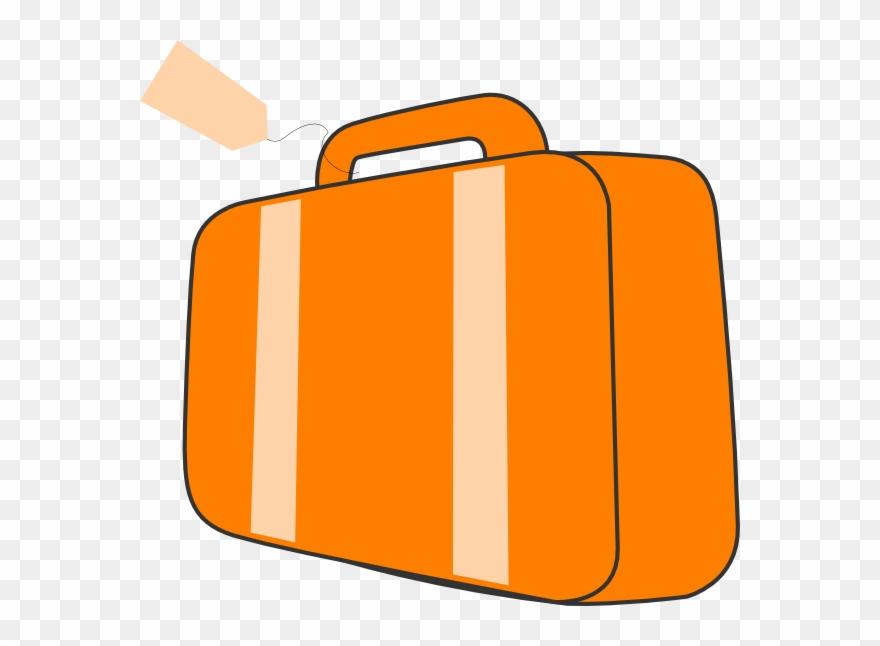 Download suitcase baggage clip. Luggage clipart orange