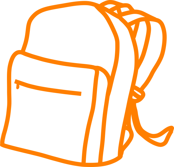 Bag pac clip art. Briefcase clipart orange