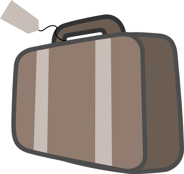 Luggage clipart. Bag travel clip art