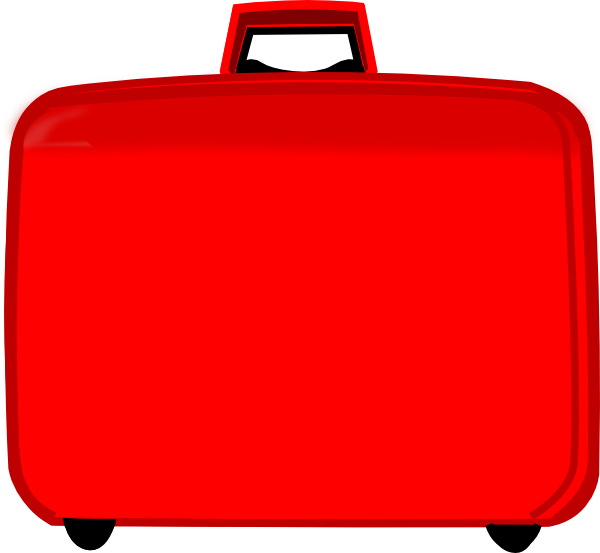 Red clip art at. Luggage clipart suitcase handle