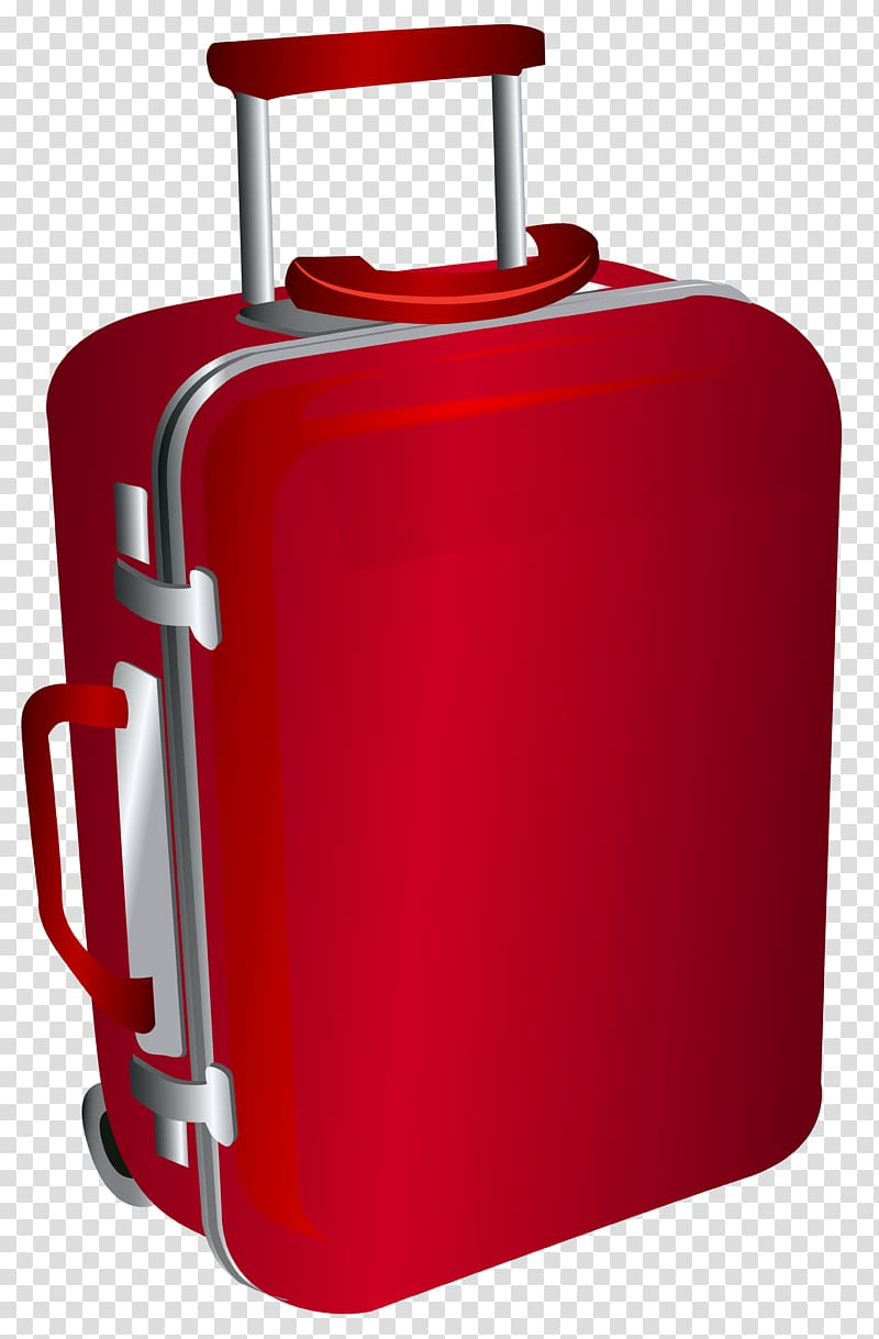 Red luggage illustration travel. Briefcase clipart small suitcase