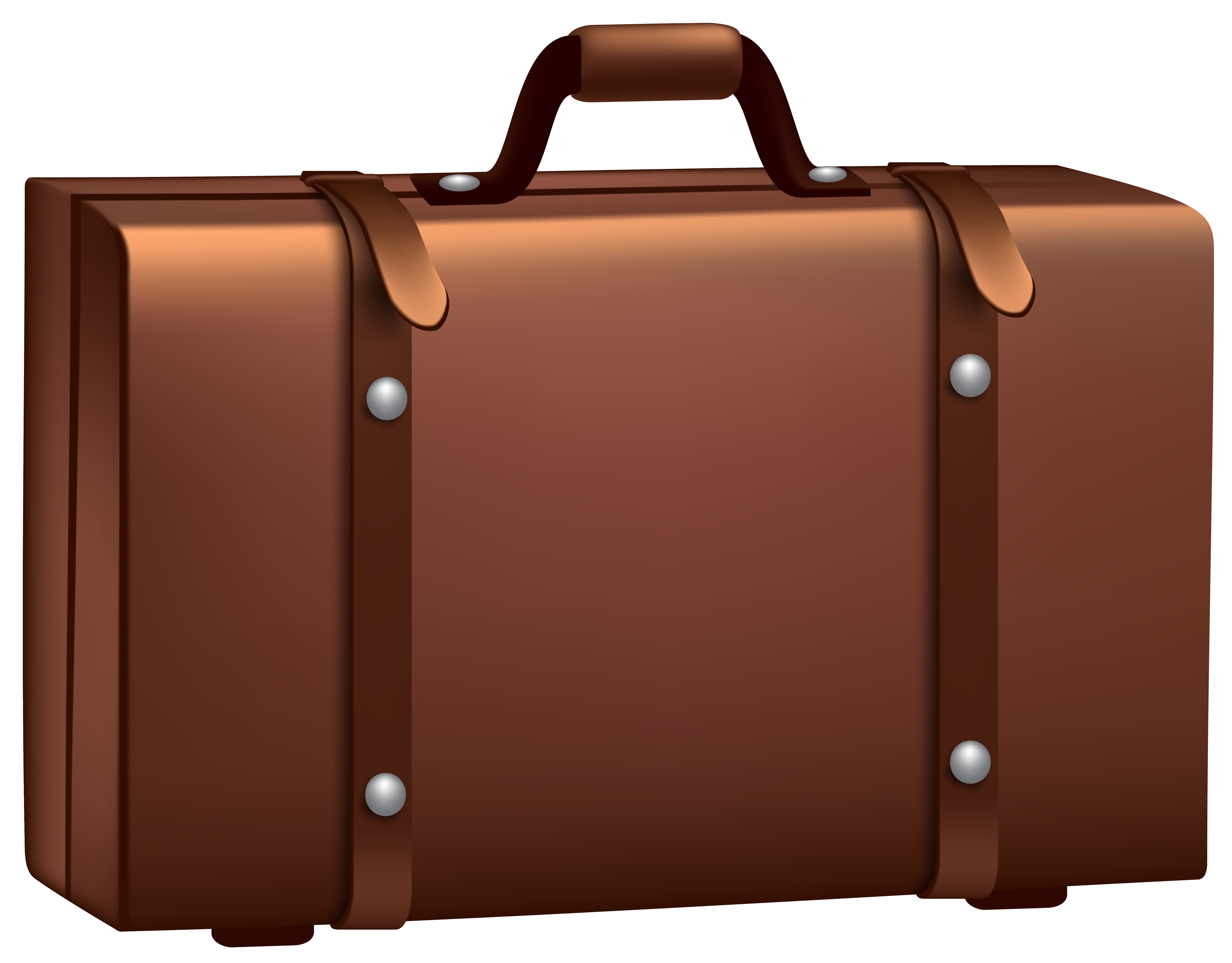 Luggage clipart brown suitcase. Png clip art image