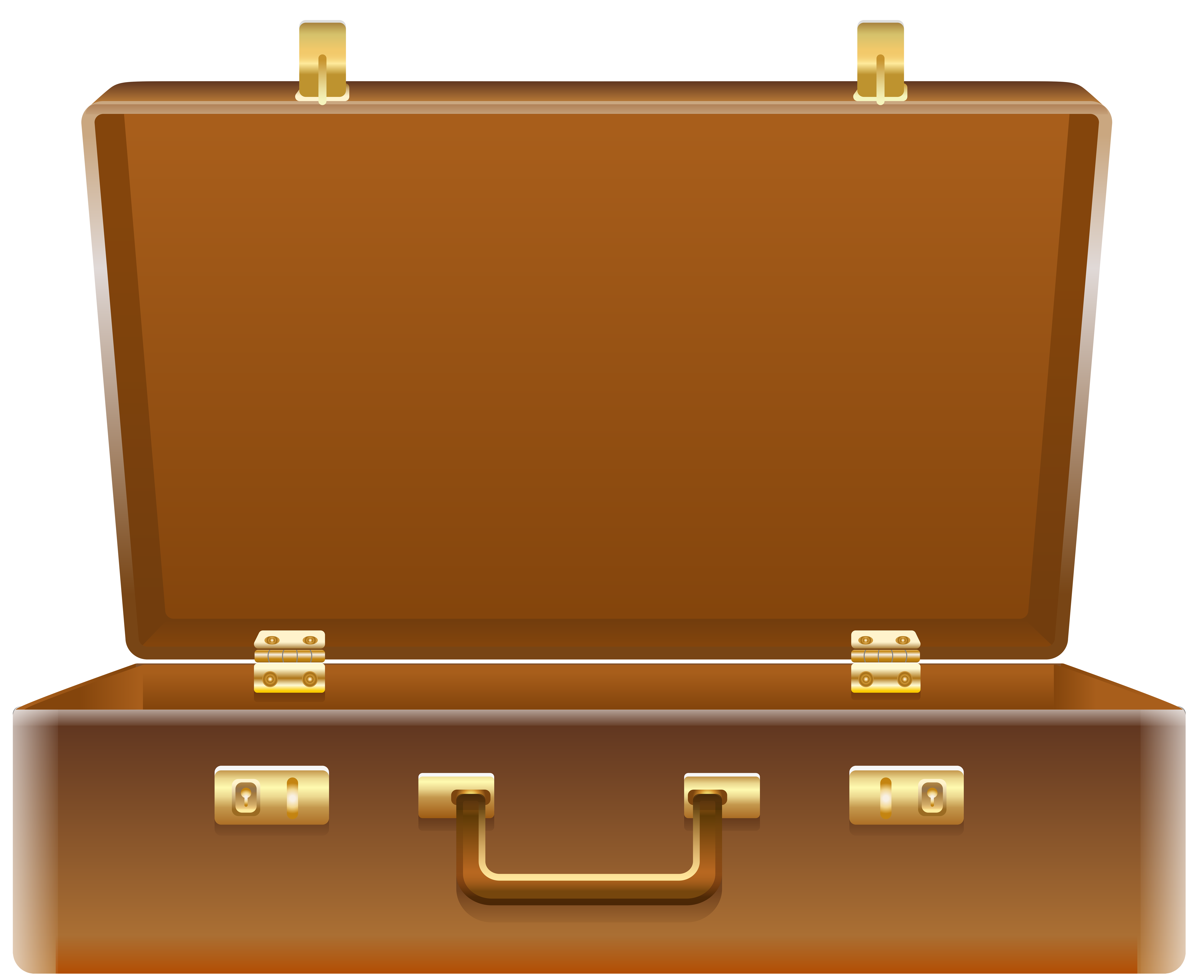 Open png clip art. Luggage clipart brown suitcase