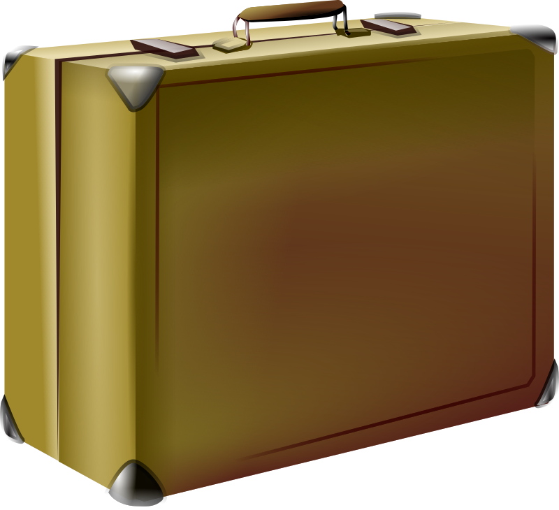 Luggage clipart brown suitcase. Png images transparent free
