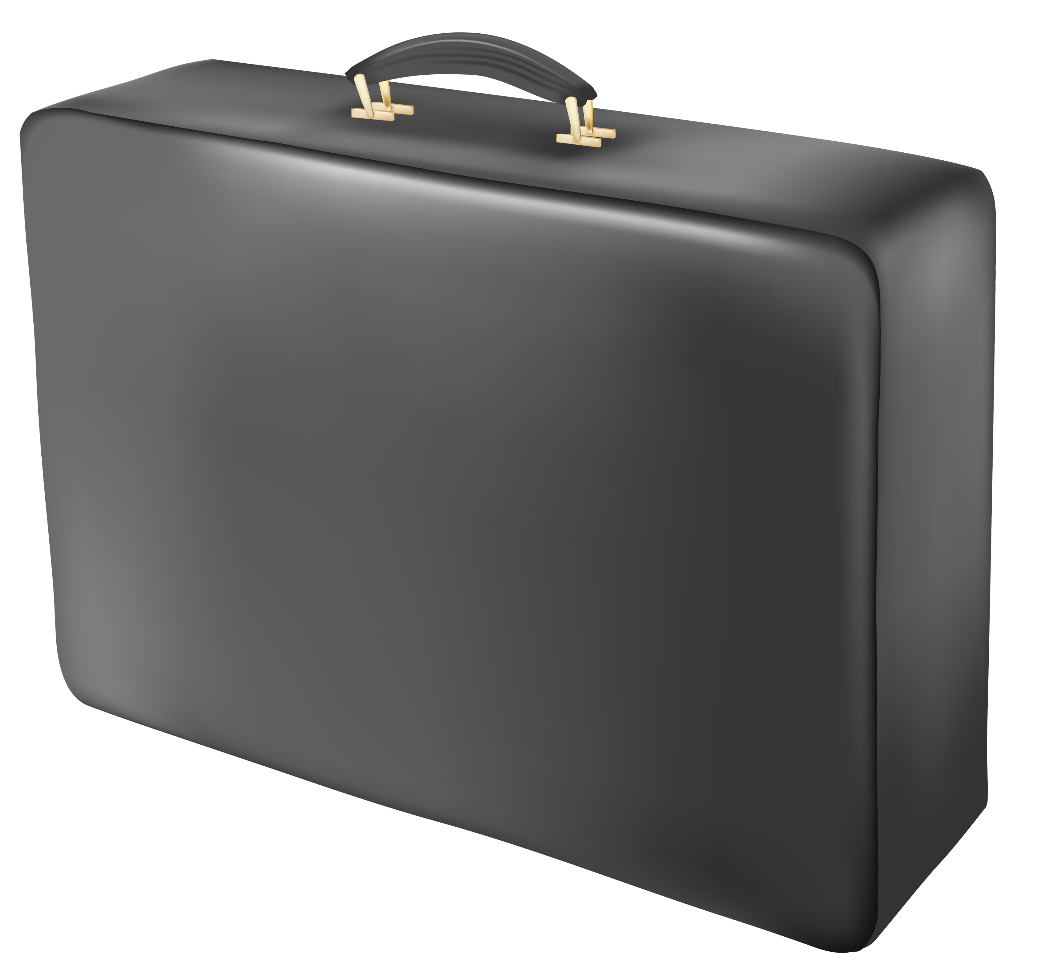 Luggage clipart briefcase. Black suitcase png picture