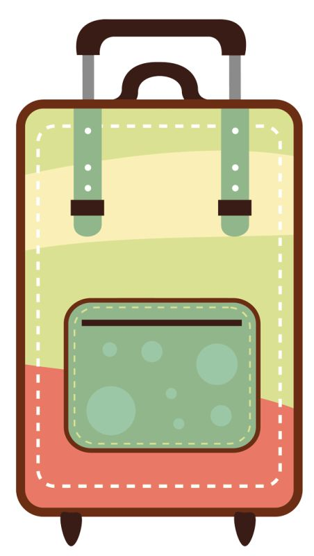 Bag clipart travel.  best clip art