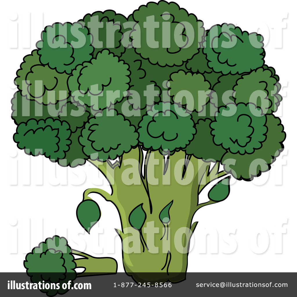 Broccoli clipart. Illustration by pams royaltyfree