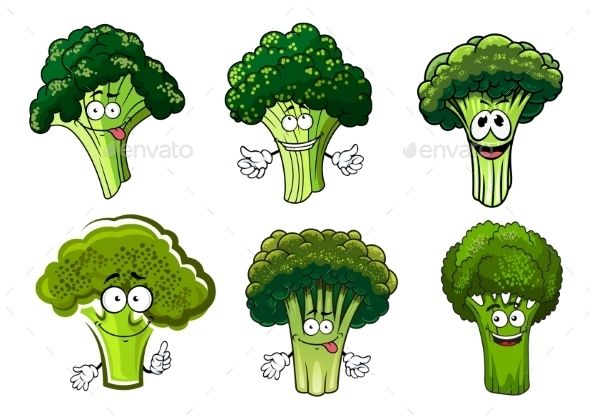 Broccoli clipart animated. Green vegetables cartoon characters