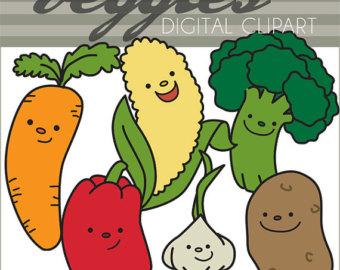 Garlic etsy vegtables set. Carrot clipart broccoli