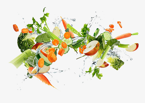 Carrot clipart broccoli. Spray flying fruit and