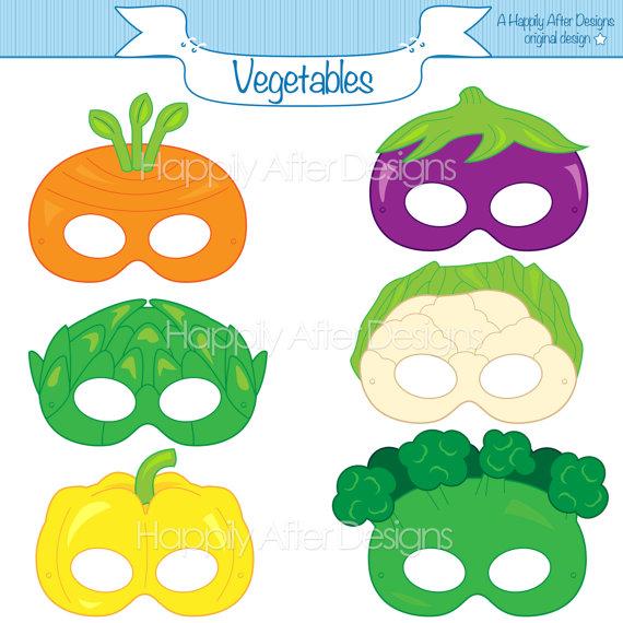 Vegetable printable masks mask. Carrot clipart broccoli