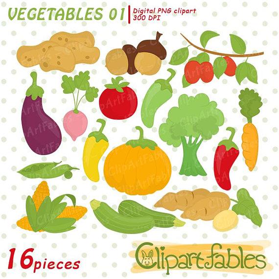 Vegetables clip art digital. Carrot clipart broccoli