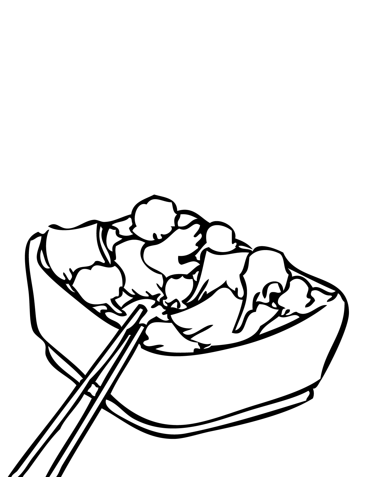 Broccoli clipart coloring page. Elegant beef ink with