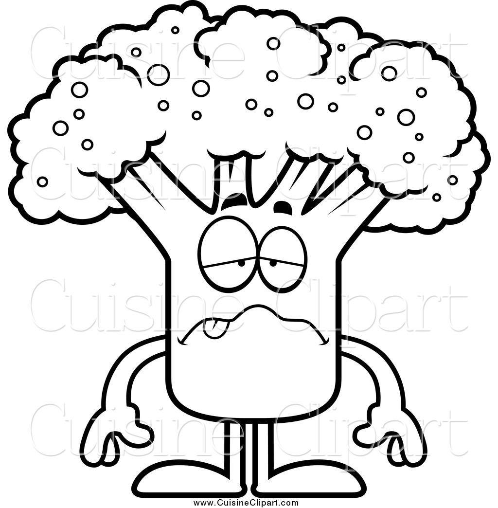 Royalty free stock cuisine. Broccoli clipart coloring page