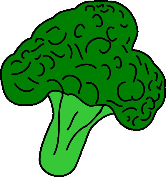 Clip art at clker. Lettuce clipart broccoli