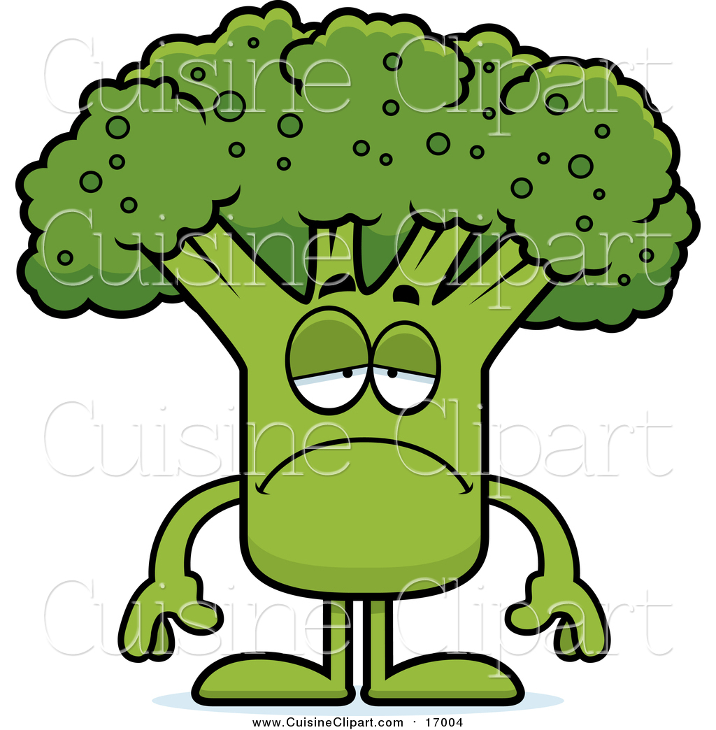 Royalty free mascot stock. Broccoli clipart cooked