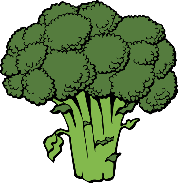 Dishes clipart steamed vegetable. Free broccoli clip art