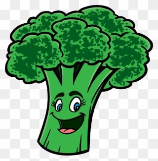 Broccoli clipart face. Free png clip art
