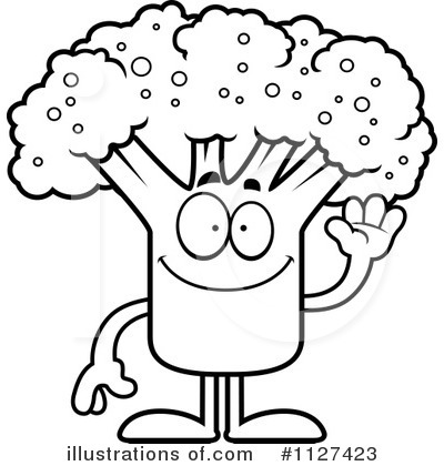 Broccoli clipart face. Illustration by cory thoman