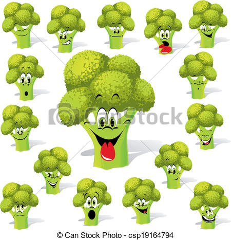 Drawn branch dry tree. Broccoli clipart face