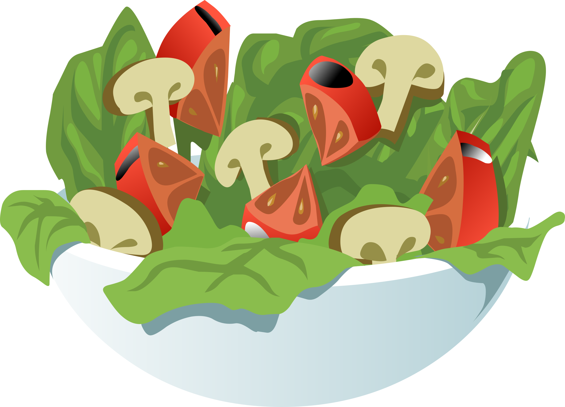 Une salade vocabulaire cuisine. Health clipart healthy cooking