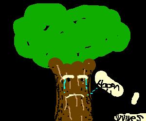 Broccoli clipart sad. Crying tree clip art