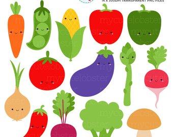 Carrot clipart broccoli. Etsy cute vegetables set