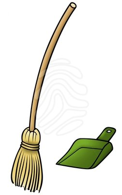 Broomstick panda free images. Broom clipart