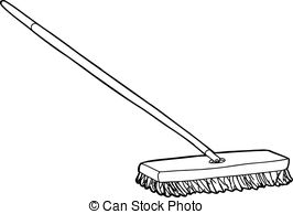 Broom clipart black and white. Station