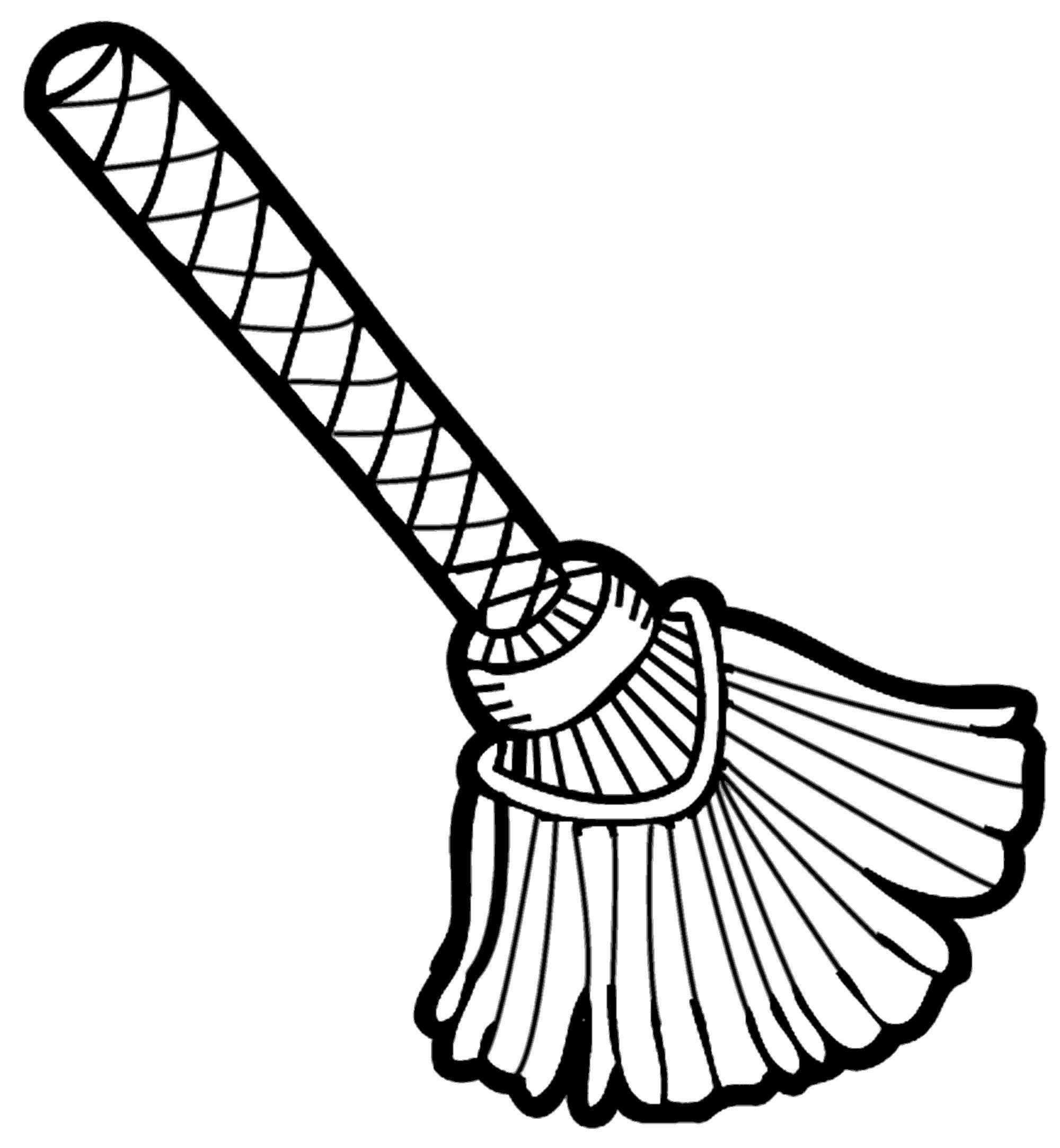 Broom clipart black and white. Dustpan drawing at getdrawings